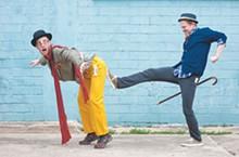 Dru Barcus and Brendan Spieth in Classic Theatre's Scapin