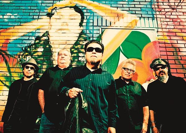 East LA heroes: Louie Pérez, David Hidalgo, César Rosas, Conrad Lozano, and Steve Berlin today. - COURTESY PHOTO