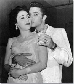 Elvis Presley and Kay Wheeler in San Antonio' Municipal Auditorium on April 15, 1956. - VIA ELVIS AUSTRALIA
