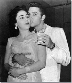 Elvis Presley and Kay Wheeler in San Antonio' Municipal Auditorium on April 15, 1956. - VIA ELVIS AUSTRALIA