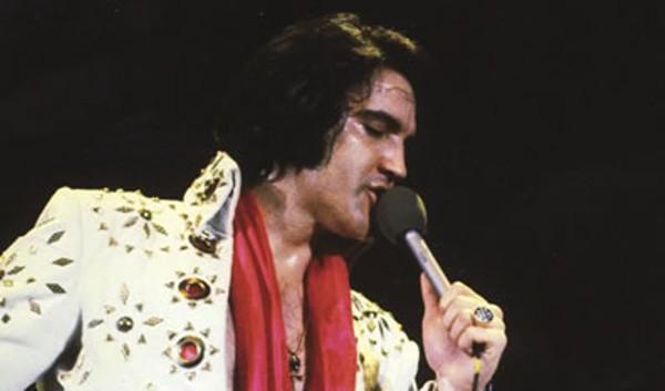 Elvis Presley performing at San Antonio's Hemisfair Arena on April 18, 1972. - VIA ELVIS AUSTRALIA