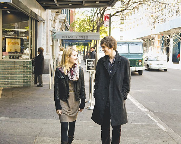 Emma Roberts and Freddie Highmore's insufferable romance in The Art of Getting By. - COURTESY PHOTO