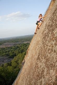 Enchanted Rock park near Fredericksburg is only about an hour north of SA. - COURTESY