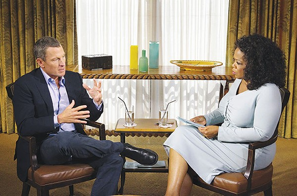Explaining the big lie (at least partially), to Oprah Winfrey earlier this year - COURTESY PHOTO