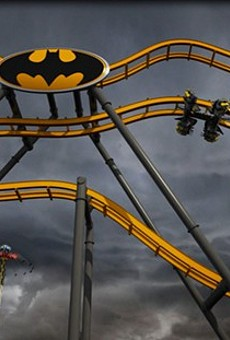 Fiesta Texas' Batman: The Ride Track Arrives At The Construction Site