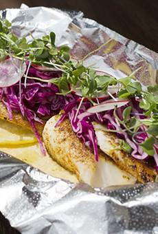 Fish tacos meet a bright dose of veggies at Amaya's Tacos.