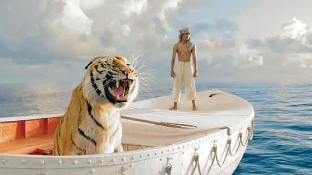 Floating tiger, standing Pi - COURTESY PHOTO