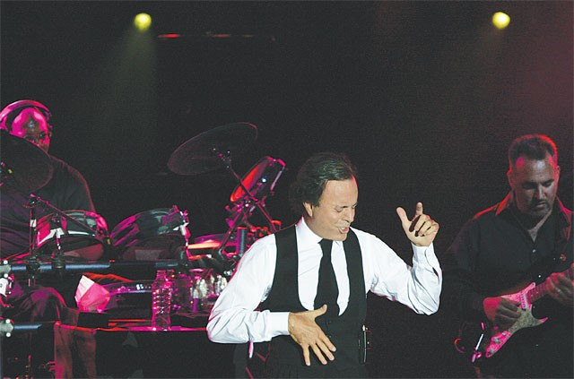 "For the second half of his show at the Majestic, Julio Iglesias will be naked. ""Soul-naked,"" that is. - COURTESY PHOTO"