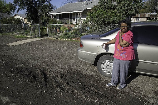 For veteran East Sider Mildred Bailey , lingering poor intrastructure continues to mark her way life. - J. MICHAEL SHORT