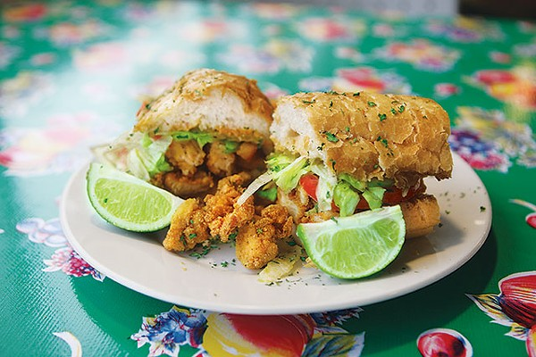 Fried Crawfish Po-Boy - JUSTIN PARR