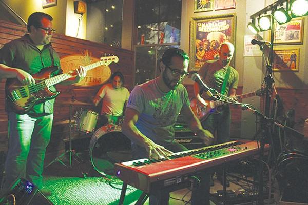 "From left: Leal, Mendoza, Villela and Saucedo reinventing ""restaurant music"" - GUILLERMINA ZABALA"