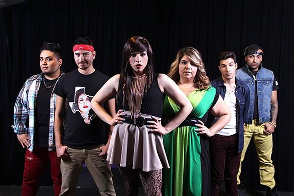 From left to right, 'Jotos del Barrio' cast members: Jaime A. González Quintero, Manuel Barraza, Toni Sauceda, Lynn Copeland, Kenneth Miles Ellington López and Máximo Anguiano - JULIAN P. LEDEZMA