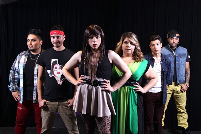 From left to right, 'Jotos del Barrio' cast members: Jaime A. González Quintero, Manuel Barraza, Toni Sauceda, Lynn Copeland, Kenneth Miles Ellington López and Máximo Anguiano - JULIAN P. LEDEZMA