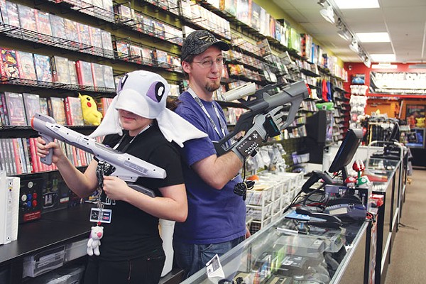 Game Over's Tina Pesterfield and James Galey know their peripherals. - CHUCK KERR