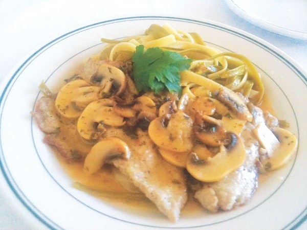 Grandma would approve: Veal piccata from Mesón European Dining. - LAUREN W. MADRID