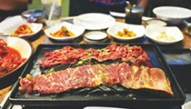 Grilling your own meats at Kiku Garden