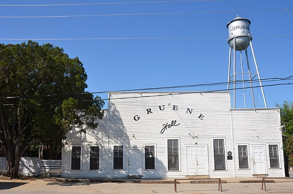 Gruene Hall, host to many country greats, celebrates 40 years as a concert hall.  It actually opened in 1878 as a community center. - MATT STIEB