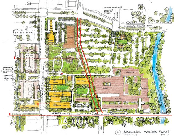 H-E-B's current master plan for their Arsenal headquarters - COURTESY PHOTO
