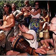 Hippies Make Change with Drum Circle