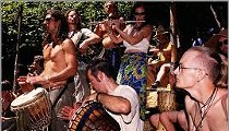 Hippies Make Change with Drum Circle