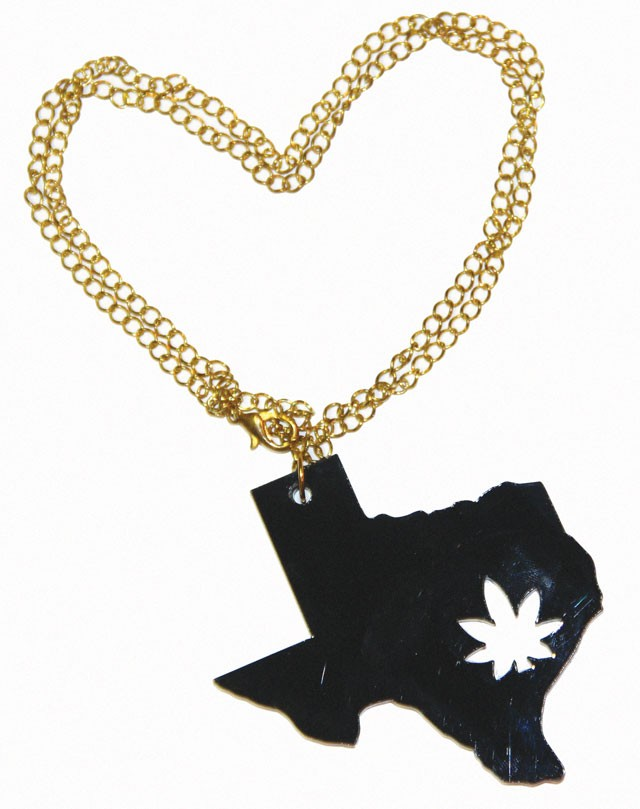 """""""Homegrown"""" necklace ($20) by Devyn Gonzales for Chronically Cute, chronicallycute.com"""