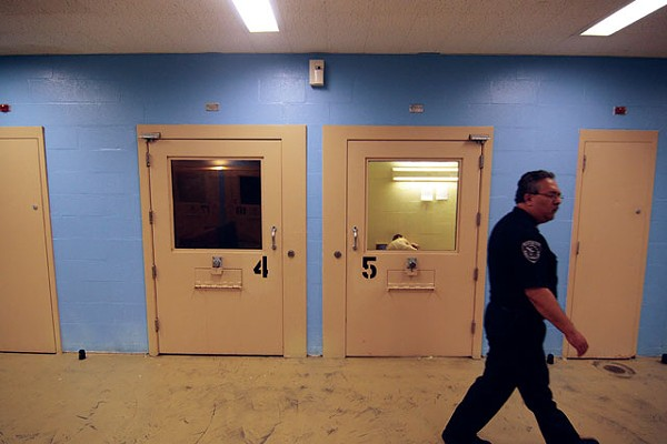 Inside the Bexar County Jail. - MICHAEL BARAJAS