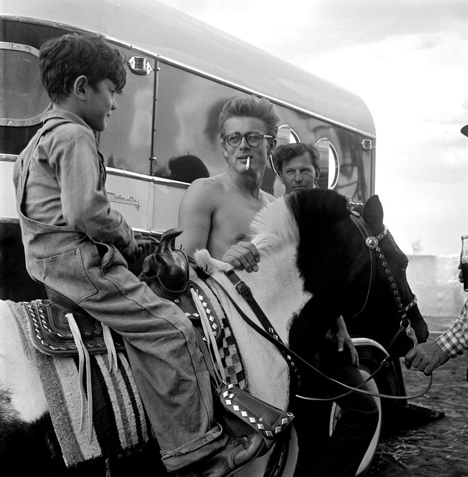 James Dean on location for the film Giant in Marfa, Texas in 1955. This year's CineFestival opens with a screening of the documentary Children of Giant. - COURTESY