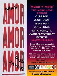 SA MADE BY HAND MERCADO - January Amor y Arte flyer