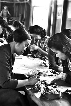 Japanese women working at Crystal City Internment Camp
