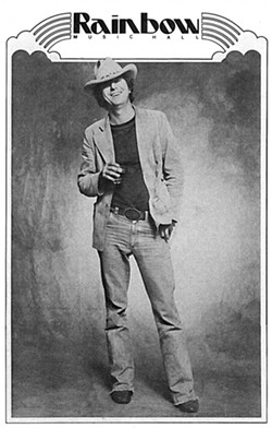 Jerry Jeff Walker concert flyer from the 1970s - COURTESY