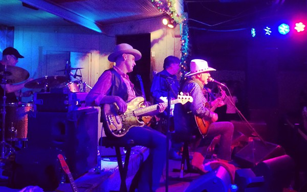 Jerry Jeff Walker performs at the historic Gruene Hall. - FELICIA ESPARZA