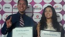 Joaquín Castro presents HSF/People En Español scholarships to local students