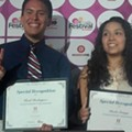 Joaquín Castro presents HSF/People En Español scholarships to local students