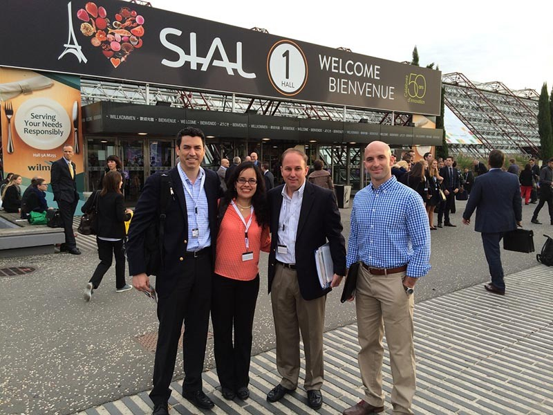 Jody Hall (third from left) at the SIAL global food marketplace in Paris - COURTESY