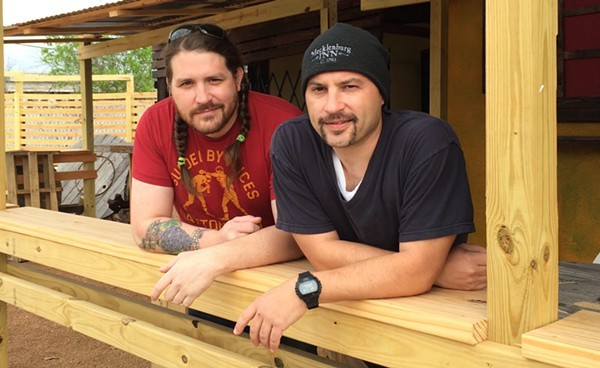 Josh Cross (left), Rick Frame (right) are getting ready for Toro Taco Bar are the masterminds behind SA's latest taco joint. - JESSICA ELIZARRARAS