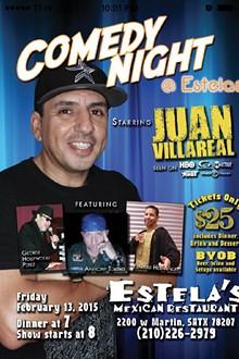 Juan Villareal Comedy at Estella's