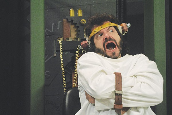 Ken Frazier gets bull goose loony in the Vex's production of 'One Flew Over the Cuckoo's Nest' - COURTESY PHOTO