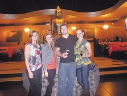 Kori McCarver, Diane McVey, Holden Manuppelli, and Taylor Ricks at Buddha Rok