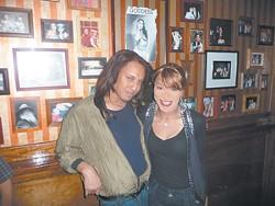 Lady Saphire and Sireeta Monroe at Sparky's Pub.
