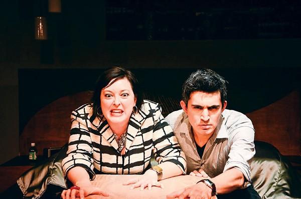 Laugh-in: Emily Spicer and Travis Treviño. - SIGGI RAGNAR