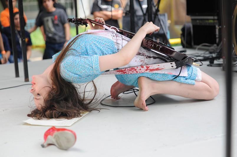 "Le Butcherettes: Teri Gender Bender in concert, before ""going crazy."" - COURTESY PHOTO"