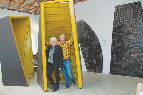 Lee and Sweeney in Lee's Wimberley studio - COURTESY