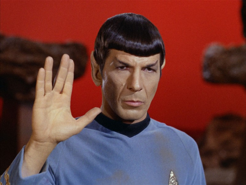 Leonard Nimoy as Spock in Star Trek: The Original Series - COURTESY