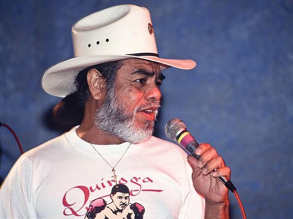 Little Joe during a performance at the 1991 Tejano Conjunto Festival in San Antonio. - AL RENDON