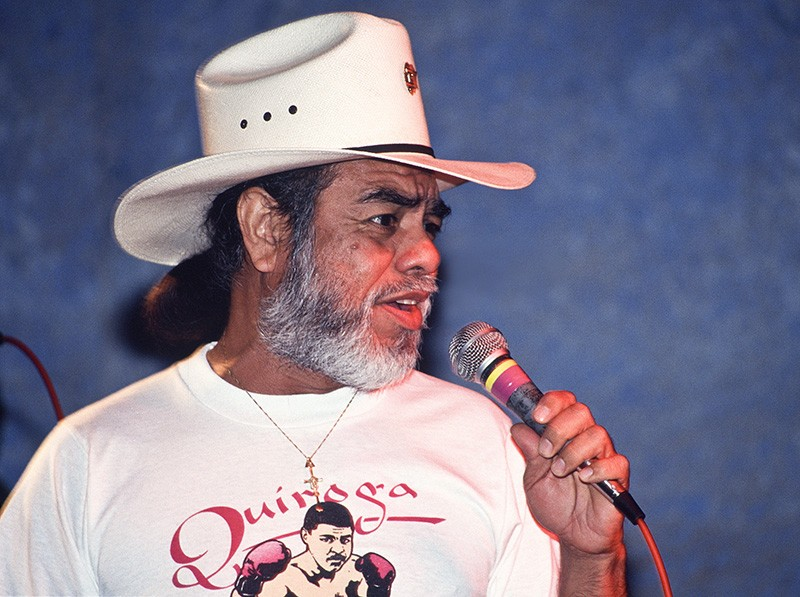 Little Joe during a performance at the 1991 Tejano Conjunto Festival in San Antonio. - AL RENDON