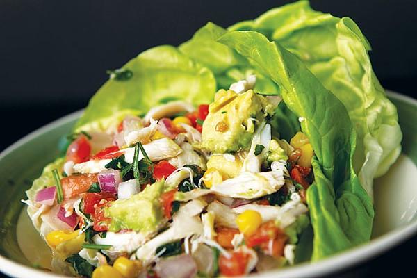 Lump crab salad from Sazo's Latin Grill - JOSH HUSKIN
