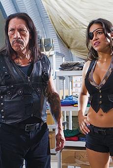 Machete (Danny Trejo) and Shé (Michele Rodríguez, who deserves her own movie) in Machete Kills