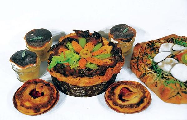 Marshmallow grapefruit pots, Poteet strawberry hand-pies, meat pie en coute, and vegetarian farmers market galette - SCOTT ANDREWS