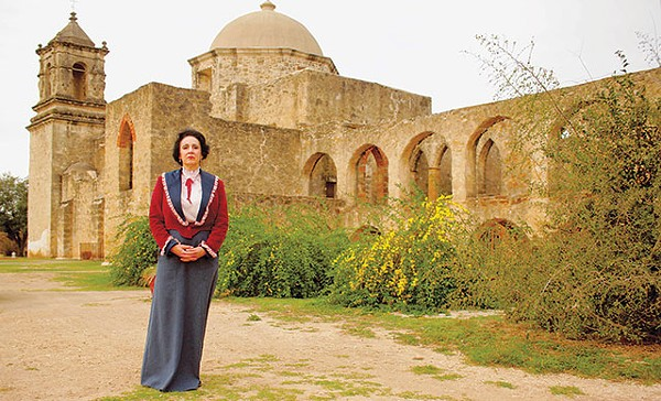 Mary Jane Blanco portraying Alamo crusader Adina de Zavala in Texas Before the Alamo - COURTESY PHOTO