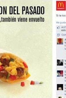 This screenshot posted by Texas Monthly captures an advertisement that made a lot of people angry at McDonald's.